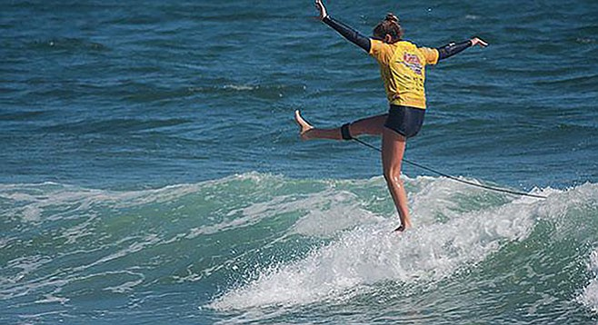 Rachel Tilly of San Clemente High — now a pro in World Surf League - Image by Sheri Crummer