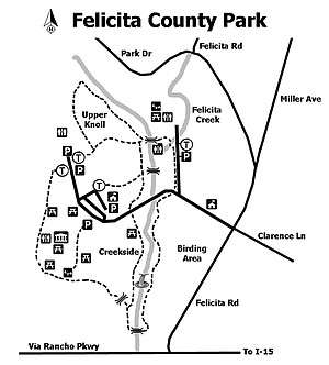 Felicity County Park Map: 2.5 miles of multiuse trails that are wheelchair- and beginner-friendly.