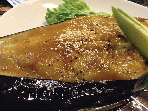 Grilled eggplant — not big in Japan