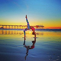 The San Diego Yoga Festival features over 100 classes, nonstop, offered for four days throughout Ocean Beach