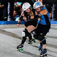 The Derby Dolls are athletes of all backgrounds that play competitive full-contact roller derby across the country