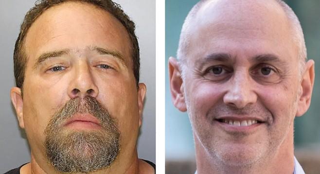 David Miller, pictured left, is a registered sex offender. David Miller, pictured right, is not.