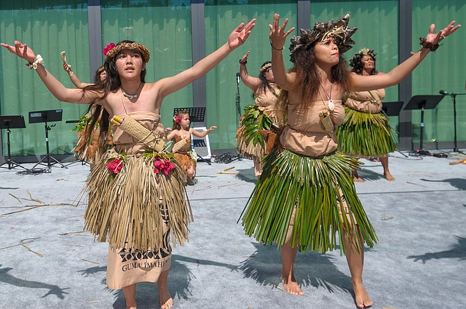 Chamorro Dancers performing at the Chamorro Cultural Festival