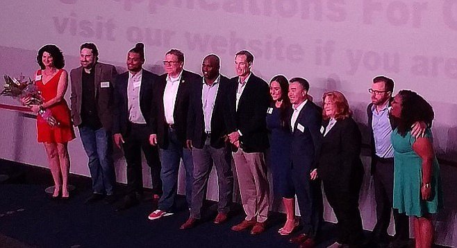 Canopy San Diego members and startup leaders (ex-NFL player Ricky Williams in the center)