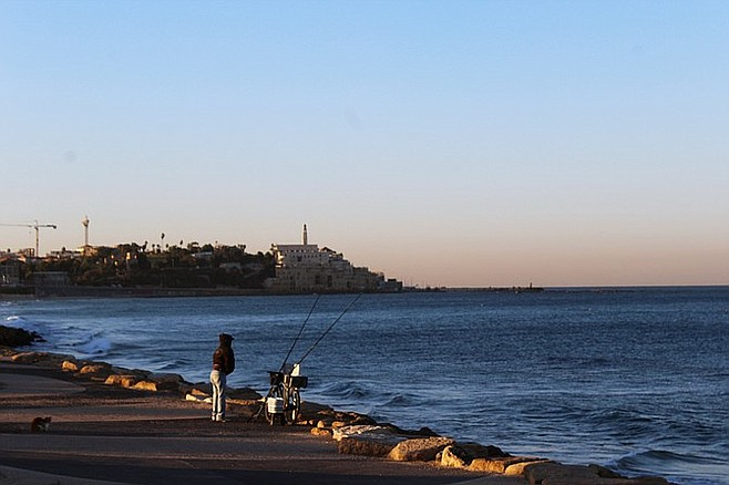 View of Jaffa, walking from Tel Aviv.