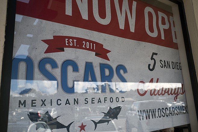 The Encinitas Oscar's is so new that they don't have their signs up yet.