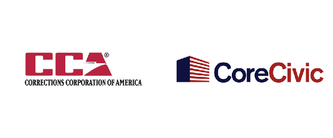 Corrections Corporation of America changed its name to CoreCivic in October 2016.