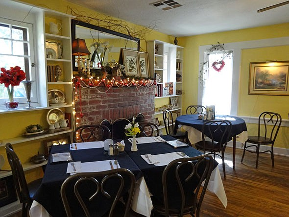 The original cottage restaurant was built in the 1920s. In the '60s an artist bought it, and it became an antique store and a deli.