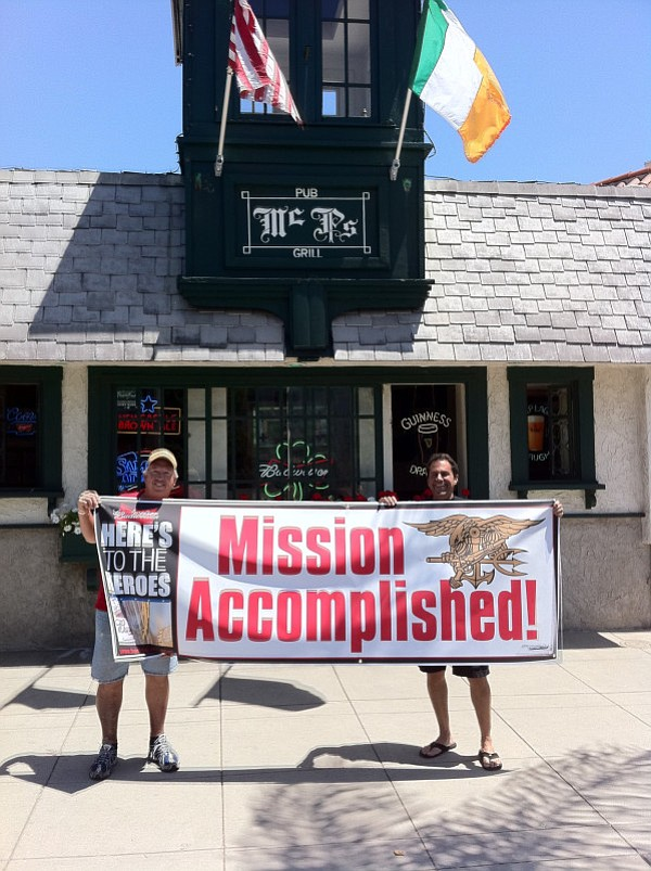 """Some SEALs in Afghanistan were being interviewed on CNN and were asked where they wanted to be for the holidays. One of them said, 'I hope we're at McP's Irish Pub in Coronado, California.'"""