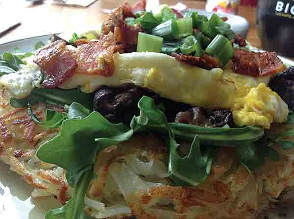 Haystack breakfast: naughty, but pretty healthy, too