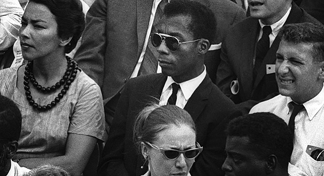 I Am Not Your Negro: The guy on the right hopes that if he squints hard enough, the film will become a little clearer.