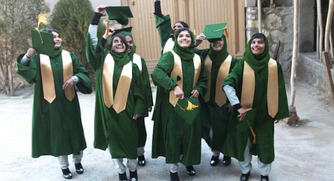 Graduation day at the first all-girls school in Deh'Sube, Afghanistan. A scene from What Tomorrow Brings.