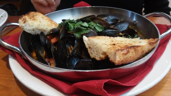 The Fish Market's saffron black mussels with butter and wine sauce were delightful.