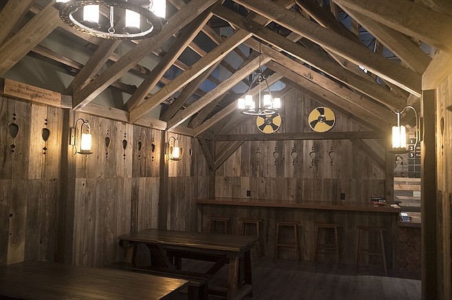 It's no Valhalla, but this small rendition of a feasting hall sets the tone for mead consumption.