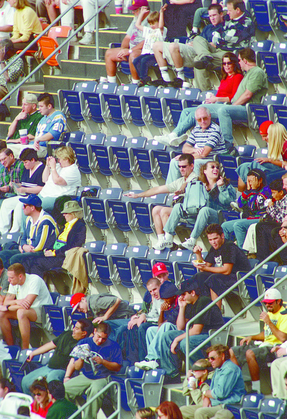 Fans at a Chargers-Browns game Dec. 5, 1999