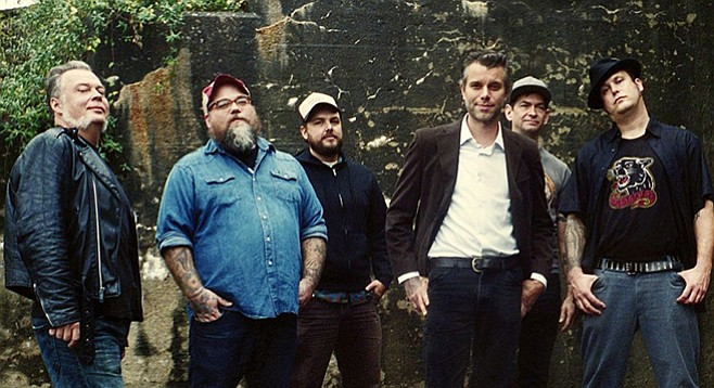 Country-punk big band Lucero takes the stage at Belly Up on Wednesday night.