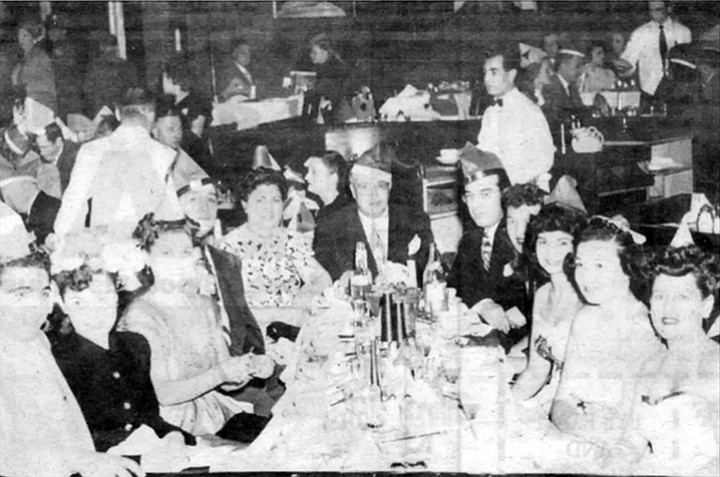 Jack Dragna (head of table) and Frank Desimone (to Dragna's left). In 1956 Frank Desimone, according to a police informant, raped the wife of Girolamo (Momo) Adamo in the presence of the shocked husband.