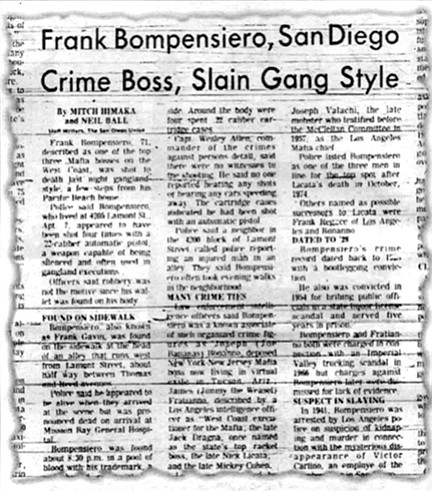 """From the San Diego Union Friday, February 11, 1977. """"We interviewed everybody in the neighborhood and there were no shots heard."""""""