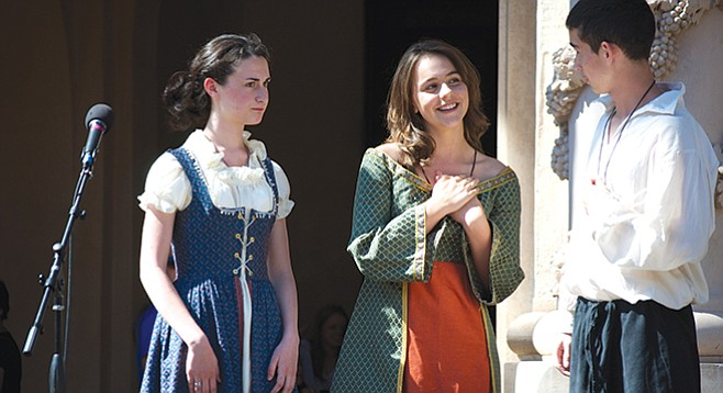 Members of the Shakespeare Academy perform during the annual Student Shakespeare Festival in Balboa Park.