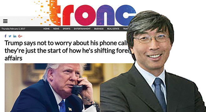 """Might Trump take up big media shareholder Patrick Soon-Shiong's reported pitch to be the president's """"health care czar""""?"""