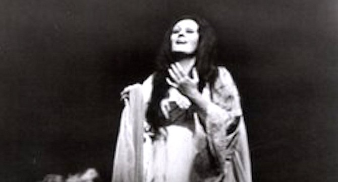 Sutherland in Lucia at San Diego. This was a production to confirm all the public prejudices against opera — a completely artificial kind of theater, without any human truth, infinitely far removed from real human concerns and real human feelings, and designed merely as a backdrop for empty vocal display by a large woman.