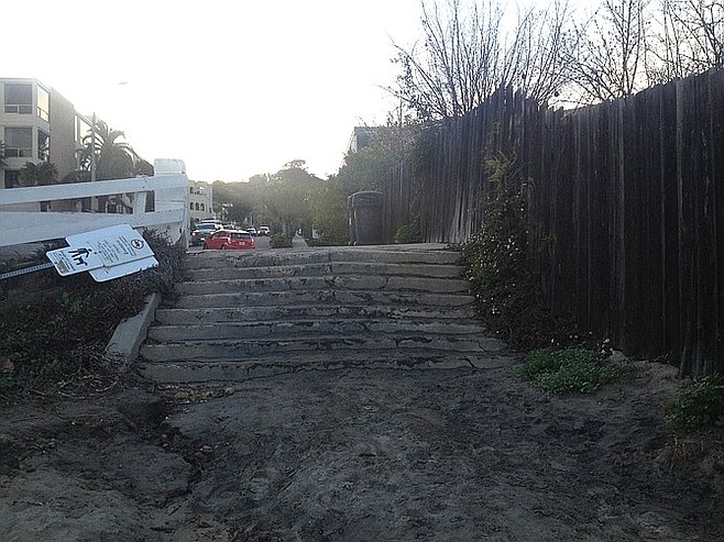 Locals are worried about losing this entrance to the beach from Lawrence Street.