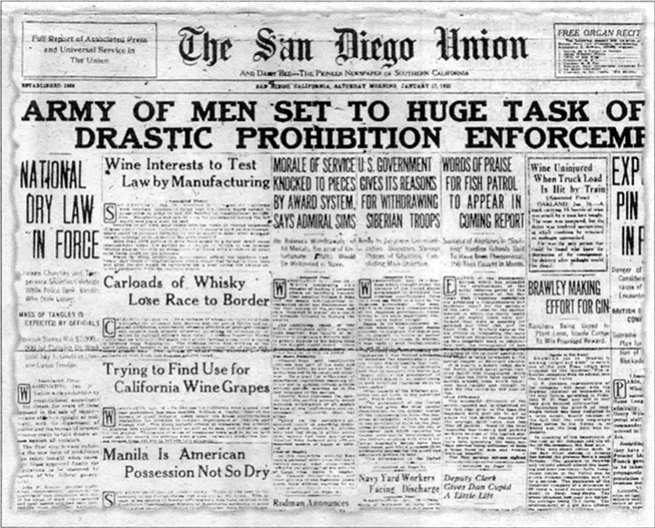 """From the San Diego Union, January 17, 1920. Mary Ann: """"Underneath my grandfather Sanfilippo's nets, there was a trapdoor. You'd open that trapdoor and go into the basement and that's where my grandparents kept the wine."""""""