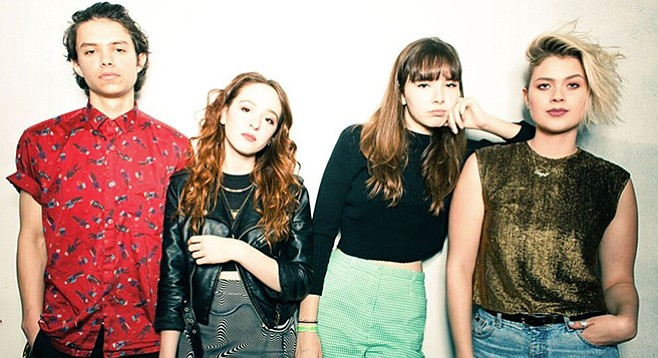 "Singer Lydia Night (third from left): ""I like to watch Twin Peaks when I'm not feeling super inspired."""