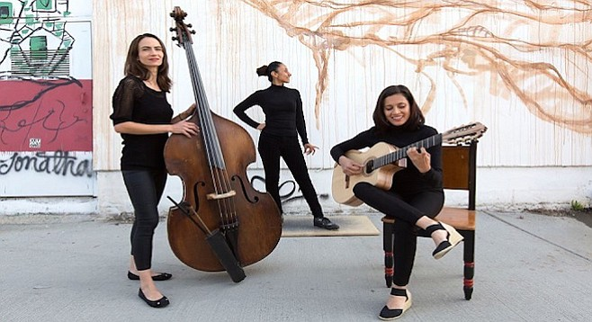 Latin-jazz trio Besos de Coco - Image by Robert Tardio