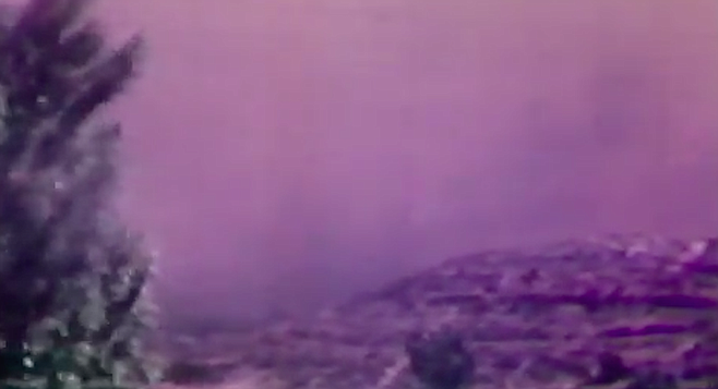 """1970 Laguna fire - shot taken from Country Crest Drive, El Cajon. """"We had trained for a fire coming down Kitchen Creek as much as you could train.  But as far as training on anything like the Laguna Fire — no way."""""""