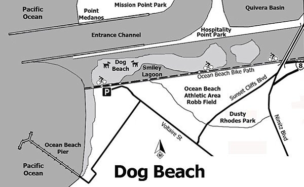 Map of Dog Beach