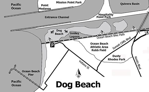 Map of Dog Beach
