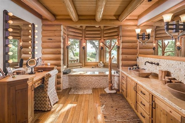 One of five total bathrooms on the ranch.