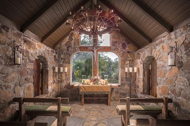 The chapel. This is God's country, after all.