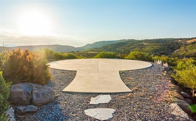 One of two helipads on the ranch — the owner is a pilot.