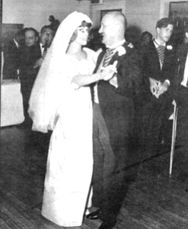 Dr. Corbett dancing with bride at son William's wedding. My mother's financial situation posed no end of problems, but these did not humiliate her. Gloria did.