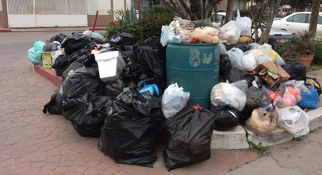 Some residential garbage hasn't been picked up since January.