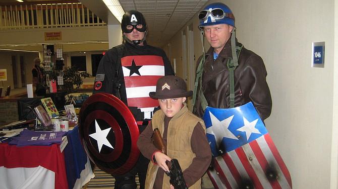 Captain America, Dum Dum Dugan and Captain America at San Diego Comic Fest