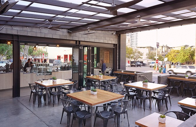 Lofty Coffee's new open-air café at the south end of Little Italy - Image by Jenny Farhat