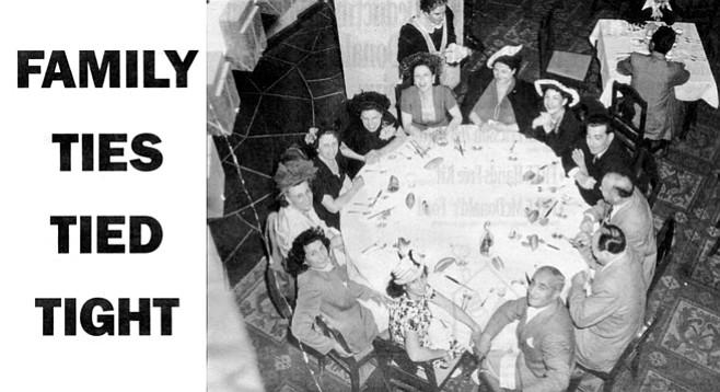 Bompensieros, Dragnas, and Adamos celebrate in Los Angeles, 1948