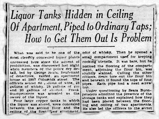From the San Diego Union, May 15, 1930. In January 1931 Bompensiero was convicted for violations of Prohibition laws. Before Bompensiero left for prison, Thelma took Mary Ann to Our Lady of the Rosary to have her baptized.