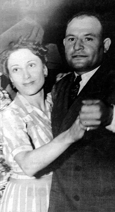 """Thelma and Frank Bompensiero. """"My grandfather Sanfilippo didn't like him because my father was driving a beautiful car, wearing expensive clothes, and my grandfather Sanfilippo probably knew there was lots more than bootlegging going on. They didn't speak very much English, but they knew."""""""