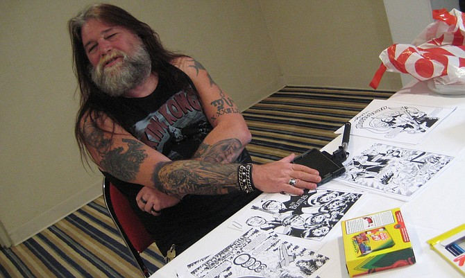 Spike Steffenhagen at Rock 'N' Roll Comics Coloring Book Party at San Diego Comic Fest