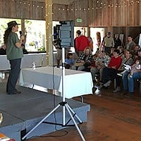 Warm up your vocal chords for the wild bird calling contest during Family Day