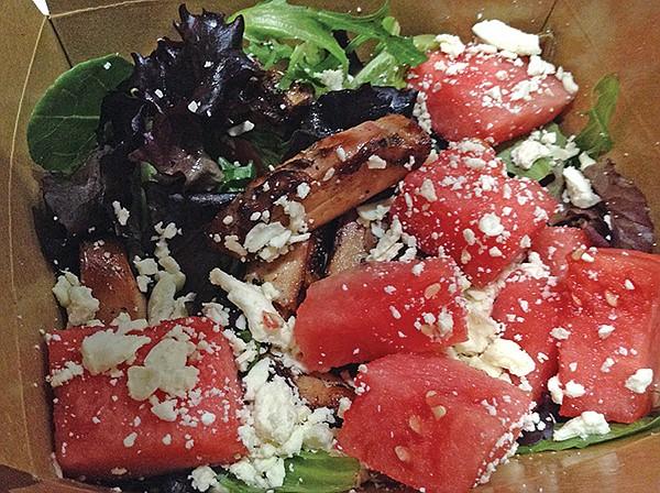 Smok'd Hog watermelon salad