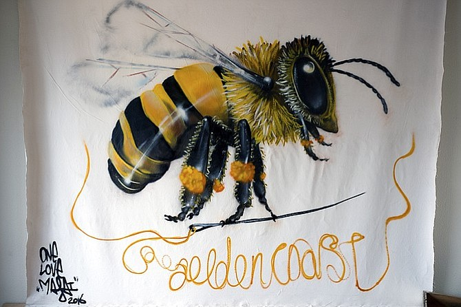 A mural in the new Golden Coast tasting room