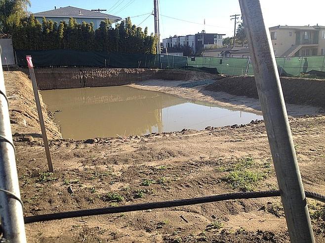 Excavation of the subterranean garages has begun at the Garrison/Locust site.