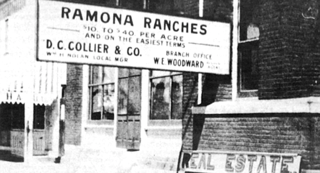 """""""I'm the one who did the deeds to Pamo Valley. The 'No Growth' bunch in Ramona Acres, in charge of the water, historic, and sewage district would have conniption if they knew."""""""