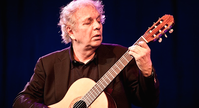 The Athenaeum Music & Arts Library concludes its winter series with a solo appearance by guitarist Ralph Towner on Thursday.