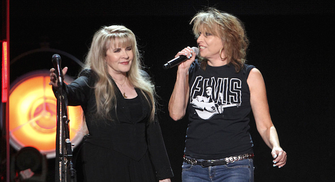 Queens of rock: Stevie Nicks and the Pretenders split a Hall of Fame bill at Viejas Arena Thursday night.